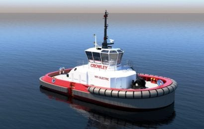 Crowley Completes First U.S. Design for Fully Electric Tug with Autonomous Technology
