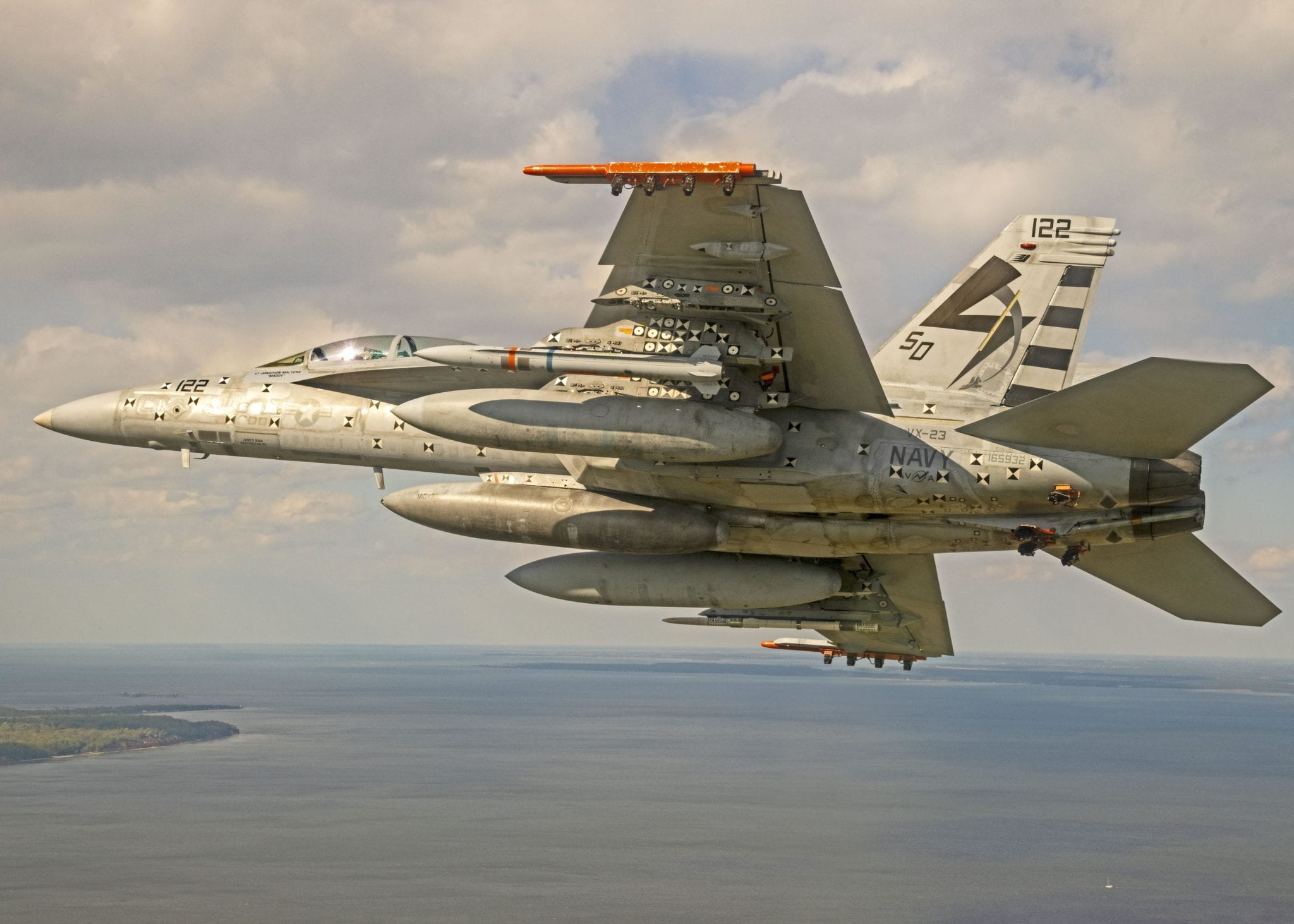 Navy Completes F/A-18, AARGM-ER Flight with Separation Test Vehicle - Seapower