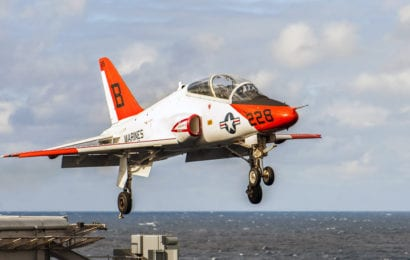 Four Crew Members Safe After T-45C Midair Collision